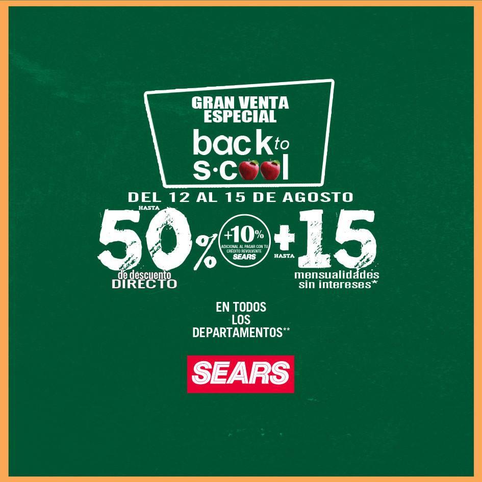 Gran Venta Regreso a Clases en Sears