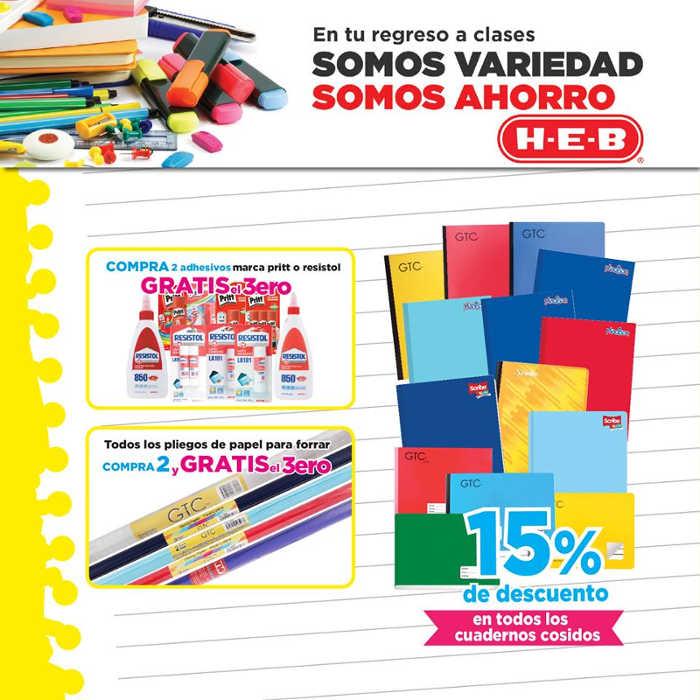 HEB promociones regreso a clases 2016