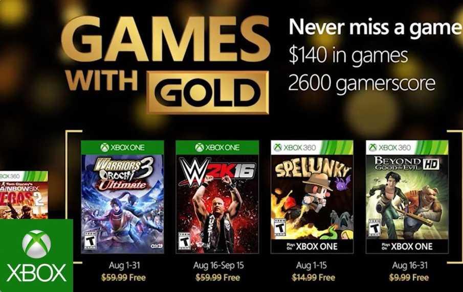 Juegos Gratis Xbox Live Gold Agosto 2016