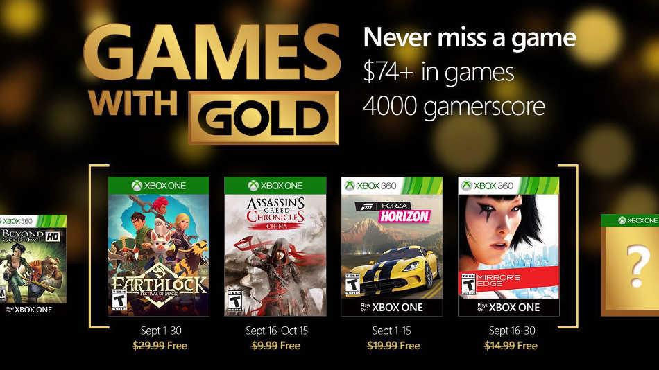 Juegos Gratis Xbox Live Gold Septiembre 2016