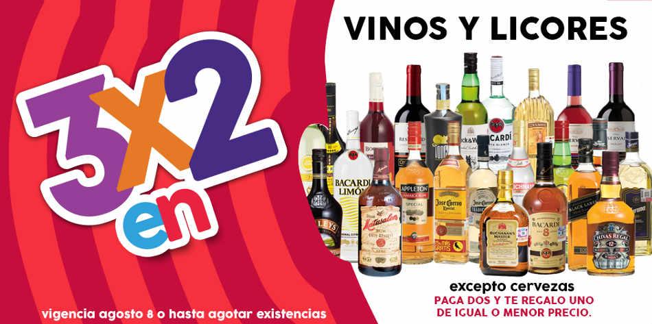 Promoción Julio Regalado 3×2 en todos los vinos y licores