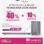 Liverpool descuentos en tecnología LG en audio