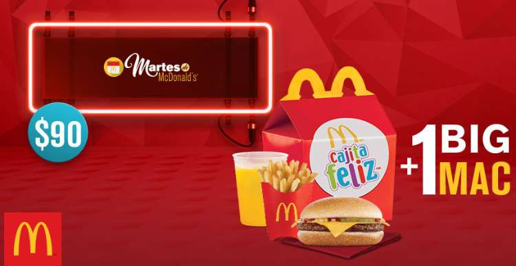 Martes de McDonald's Cajita Feliz + Big Mac y Hot Cakes