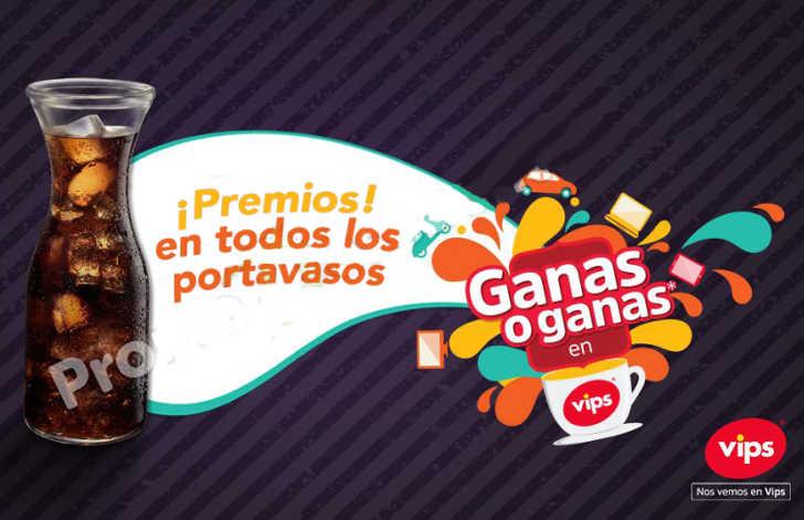 Promoción Coca-Cola Vips Ganas o Ganas Premios