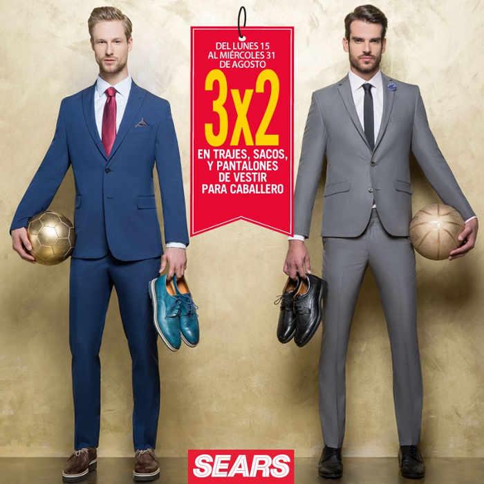 Sears 3×2 en trajes, pantalones y sacos para caballero