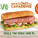 Subway Nuevo Sub de Lomo Tipo Canadiense a $30