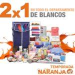 Temporada Naranja La Comer 2x1 en todo el departamento de blancos