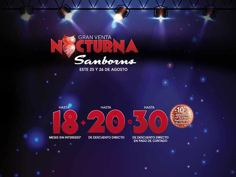 Venta Nocturna Sanborn Agosto 2016