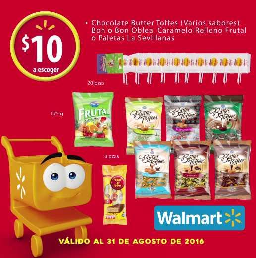 Walmart chocolates, paletas, gomitas y dulces desde $10