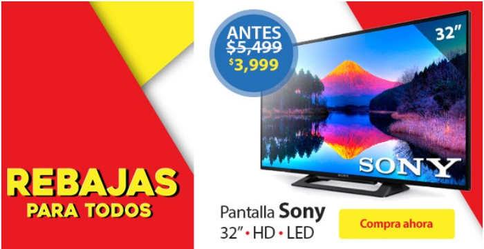 """Walmart iPad Mini y Pantalla Sony 32"""" a $3,999"""