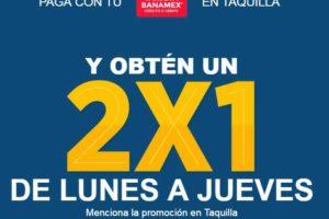 2×1 en Cinépolis con tarjetas Banamex de lunes a jueves