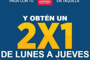 2x1 en Cinépolis de Lunes a Jueves con Tarjetas Banamex