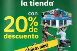 Comex 20% de descuento en toda la tienda del 30 de Septiembre al 2 de Octubre