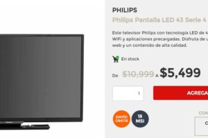 "Elektra Pantalla Philips LED 43"" Smart TV FHD $5,499"