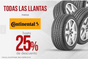 Famsa: 25% de descuento en llantas continental