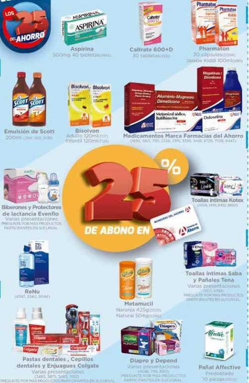 Farmacias del Ahorro: 25 del Ahorro 25% de bonificación en productos