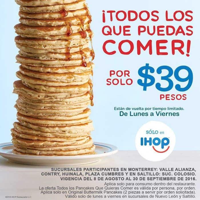 Ihop: todos los hotcakes que puedas comer por $39