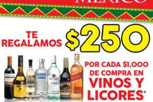 La Comer $250 de descuento en vinos y licores