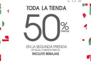 LOB 50% de descuento en toda la tienda