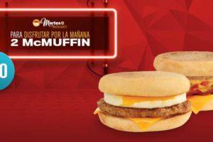 Martes de McDonald's 2 McMuffin por $40