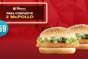 Martes de McDonald's 2 McPollo por $59