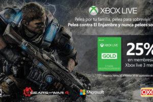 OXXO 25% de descuento en membresía Xbox Live Gold 3 meses