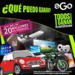 Promoción Con Ego Todos Ganan Tiempo Aire Gratis, Autos y Celulares