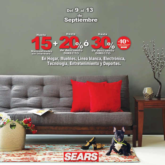 Sears: hasta 30% de descuento en muebles, hogar, línea blanca ...