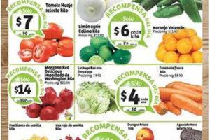 Frutas y verduras Soriana Septiembre 2016