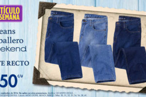 Suburbia jeans para caballero Weekend corte recto $150