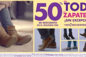 Suburbia zapatos 50% de descuento en segundo par