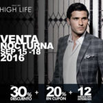 Venta Nocturna High Life del 15 al 18 de septiembre 2016