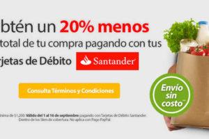 Walmart súper 20% de descuento y envío gratis con Santander