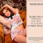 Women'secret 3×2 en prendas seleccionadas