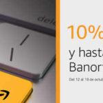 Amazon cupón 10% de descuento y 12 msi con Banorte