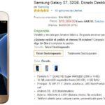 Amazon Samsung Galaxy S7 Telcel Desbloqueado a $9261 con Banorte