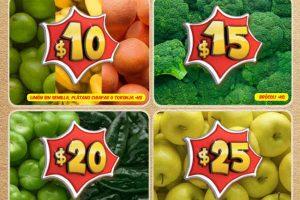 Frutas y verduras Bodega Aurrera Noviembre