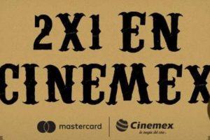 2x1 en Cinemex todos los días con MasterCard