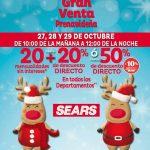 Gran Venta Prenavideña Sears del 27 al 29 de octubre 2016