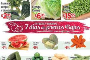 Frutas y Verduras HEB del 11 al 13 de Octubre
