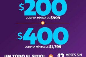 Netshoes cupones de $400 y $200 de descuento