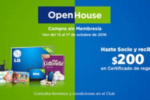 Open House Sam's Club del 13 al 17 de Octubre