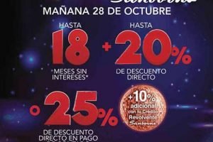 Venta Nocturna Sanborns 28 de Octubre 2016