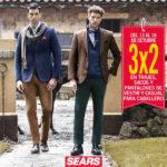 Sears 3×2 en trajes, sacos y pantalones para caballero del 13 al 18 de octubre