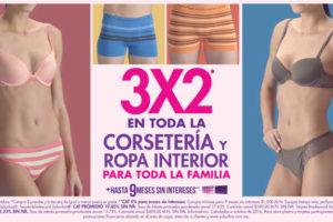 Suburbia 3×2 en corsetería y ropa interior