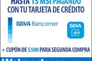 Walmart $500 de bonificación con Bancomer y envío gratis en DF
