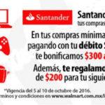 Walmart: $300 de bonificación + cupón de $200 con Santander