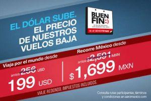 Promociones del Buen Fin 2016 en Aeroméxico