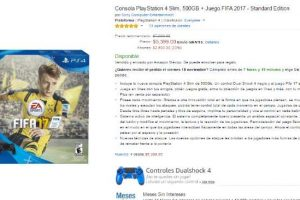 Amazon El Buen fin 2016 PS4 Slim