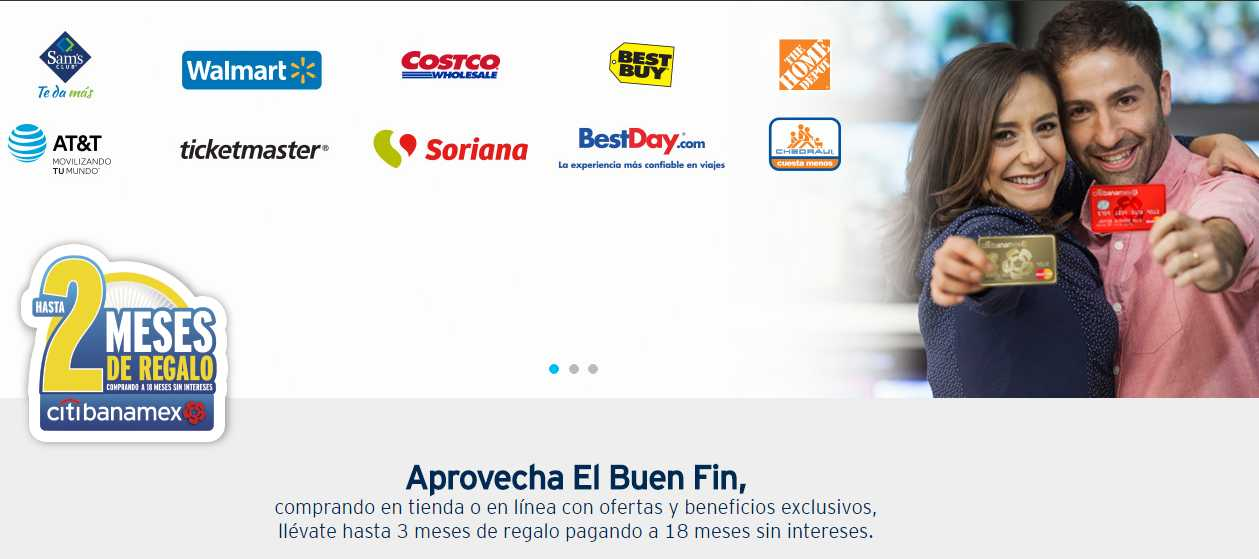 El Buen Fin 2016 Banamex Tiendas que regalan bonificación
